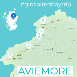 Map of Aviemore within Scotland