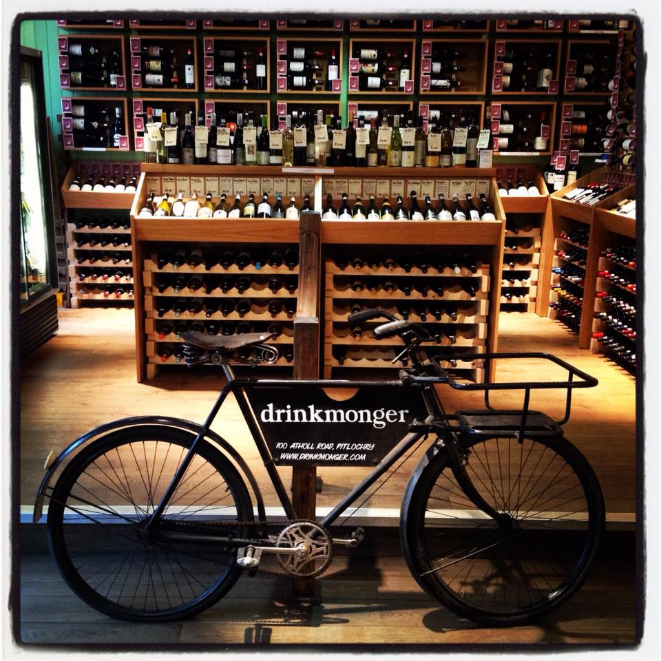 photo of bicycle in drinks shop