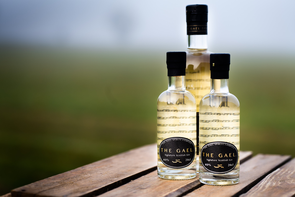 IMage of three bottles of The Gael Gin