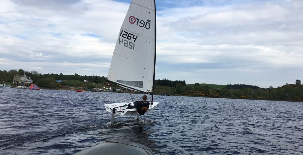 Photo of dinghy on Loch