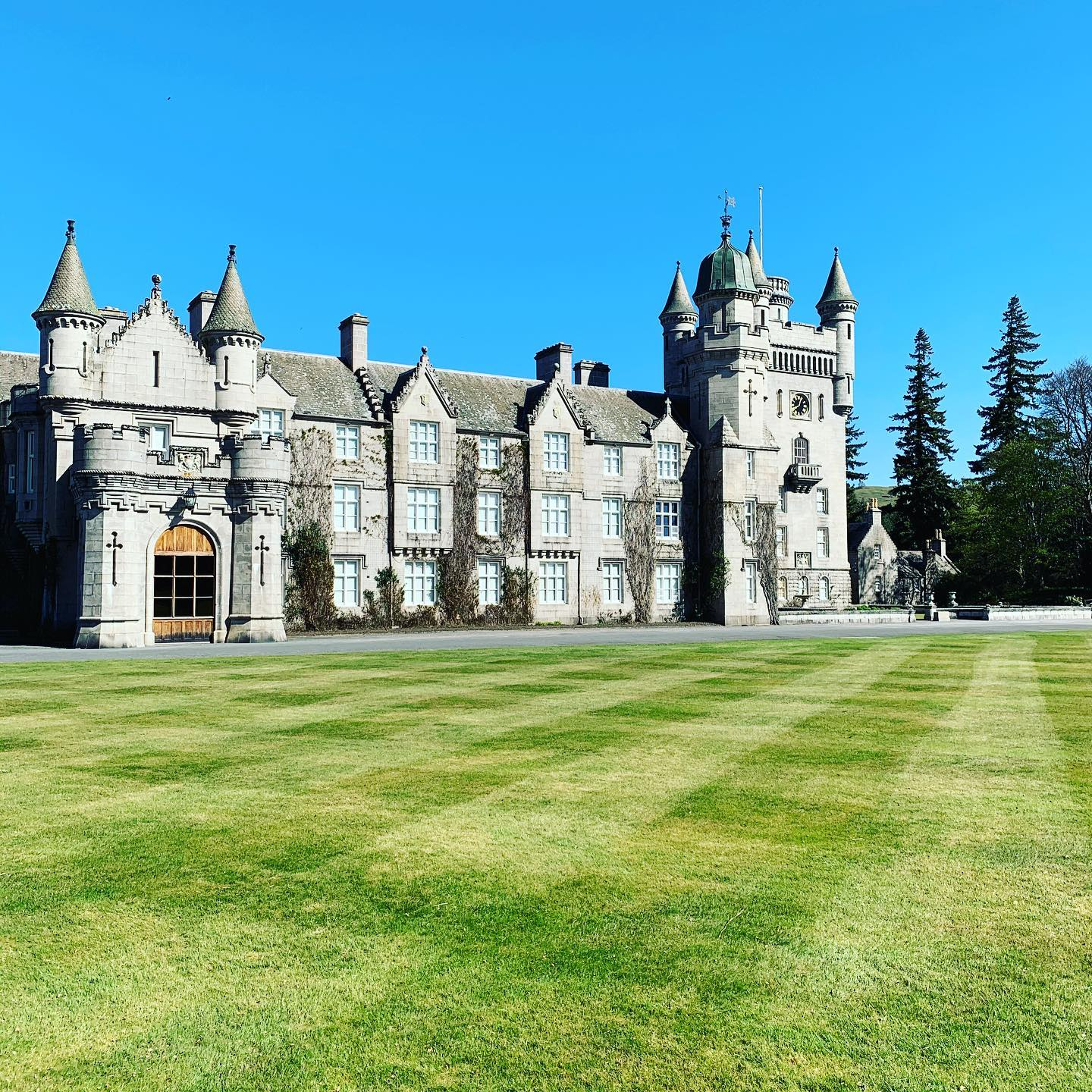 A Sunny view of Balmoral Castle, Royal Deeside