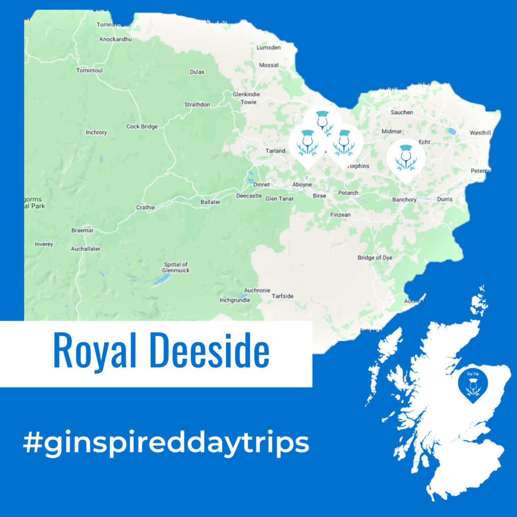 Map of Deeside for Day Trip